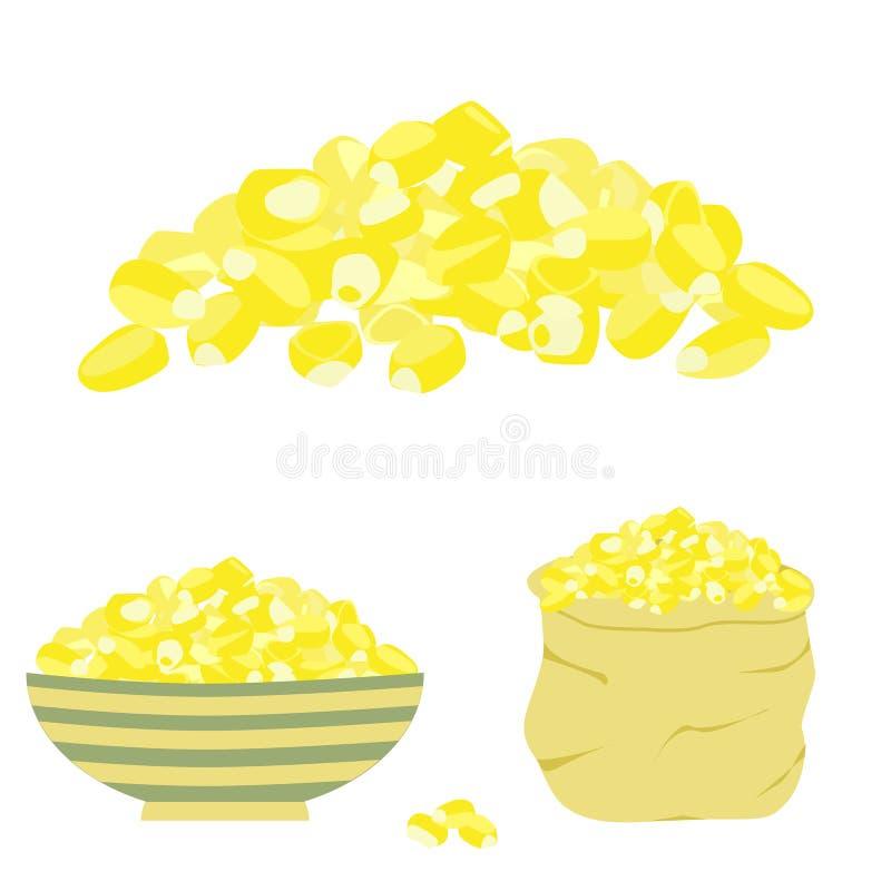 Germen amarillo del maíz ilustración del vector