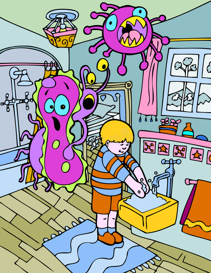 Germes amedrontados ilustração royalty free