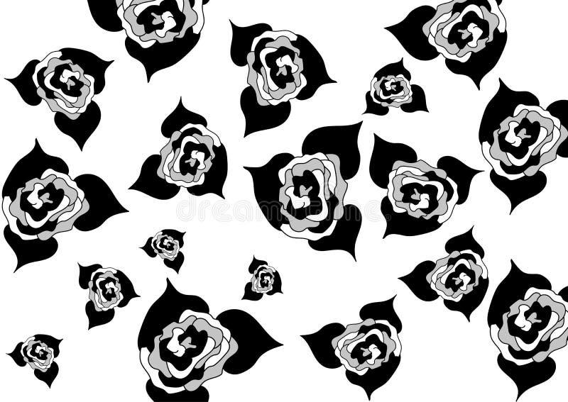 Germogli delle rose della dimensione differente su un fondo bianco illustrazione vettoriale