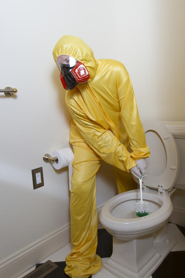 Germy Smelly Toilet Cleaning Stock Photo Image Of Maid