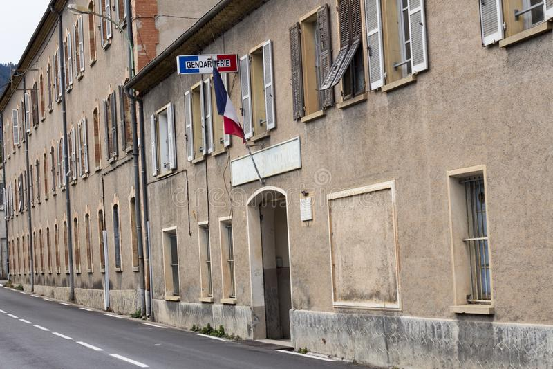 Gerndarmerie w Sospel Komenda policji w południe Francja obraz stock