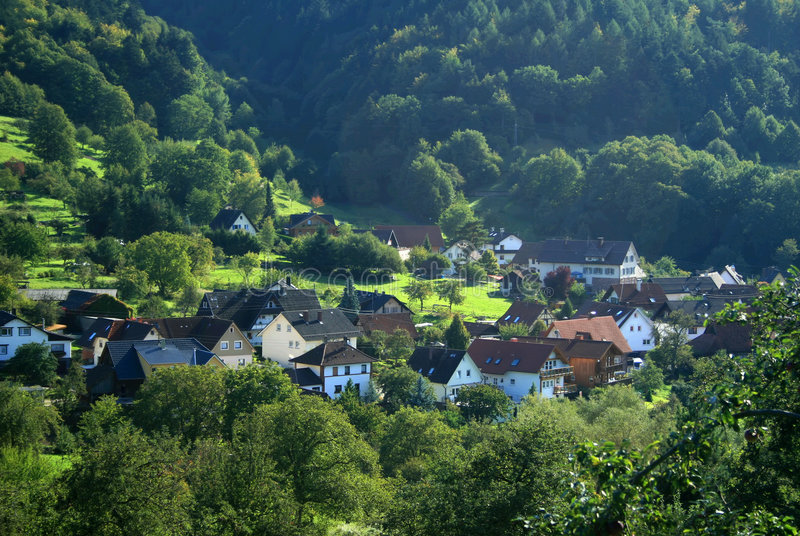 Gernsbach. The small village Gernsbach near Baden-Baden in Germany stock images