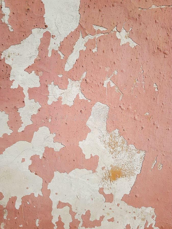 Geroest op oppervlakte van het oude ijzer, Verslechtering van de staal, Bederf en grunge Textuurachtergrond Gekleurd roestig bevl stock foto