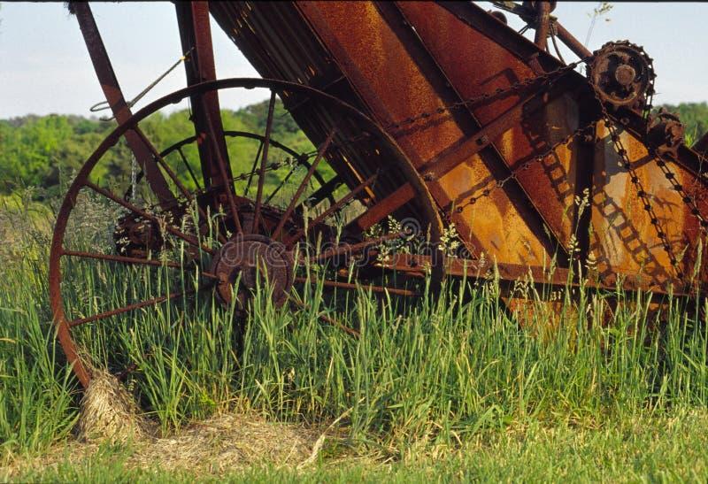 Geroeste landbouwbedrijfapparatuur stock foto