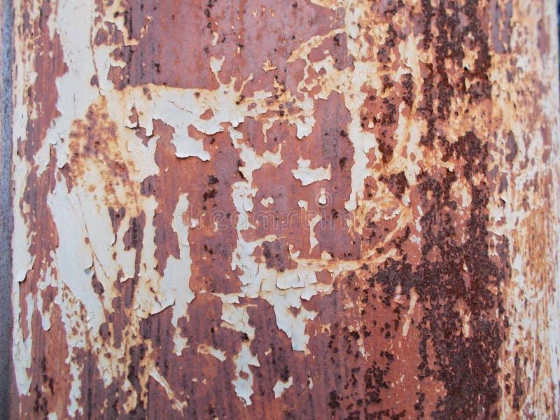 Geroeste staalvloer op patina bevlekte kleur royalty-vrije stock afbeeldingen