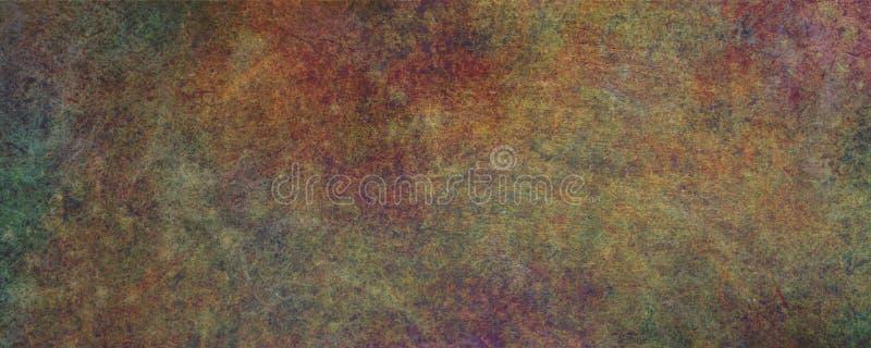 Geroeste vlakke de bannerachtergrond van Grunge van het metaalblad vector illustratie
