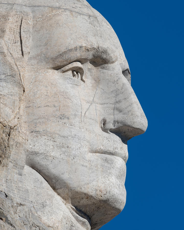 Geroge Washington-profiel royalty-vrije stock foto's