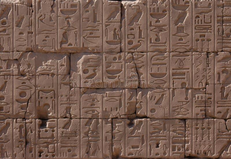 Geroglifici egiziani immagine stock libera da diritti
