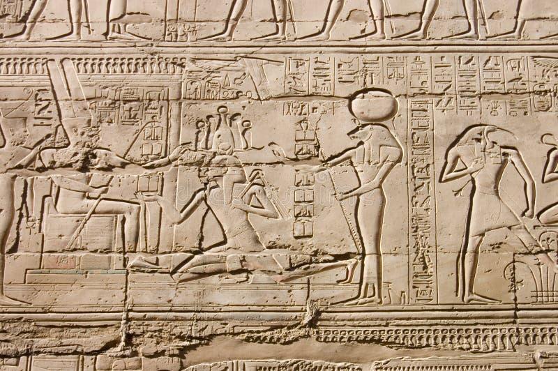 Geroglifici egiziani. fine in su immagine stock libera da diritti