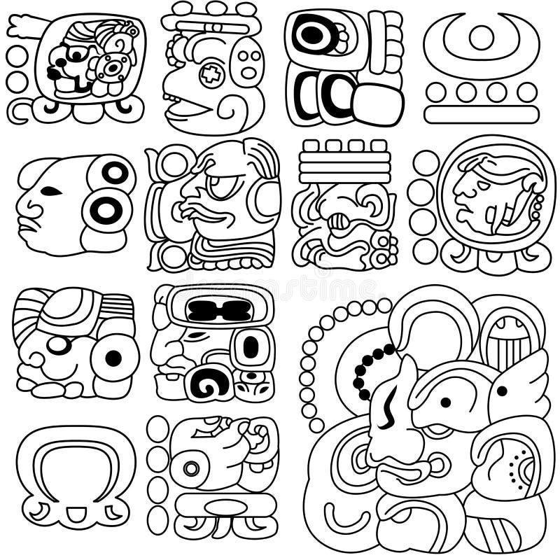 Geroglifici maya royalty illustrazione gratis