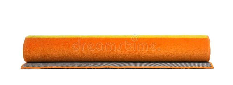 Gerold kleurrijk tapijt op witte achtergrond stock afbeelding