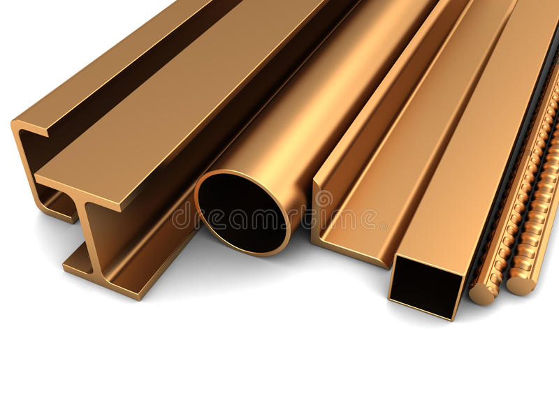 Gerold metaal stock illustratie