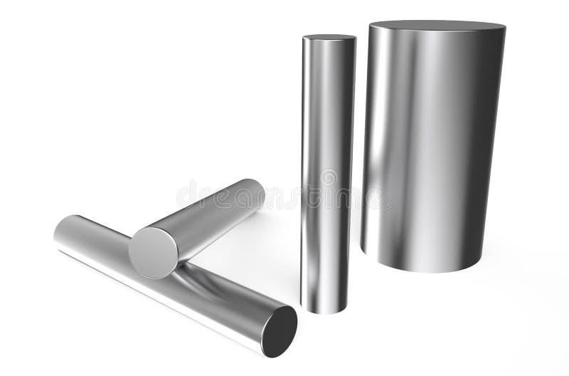 Gerold metaal, rondes stock illustratie