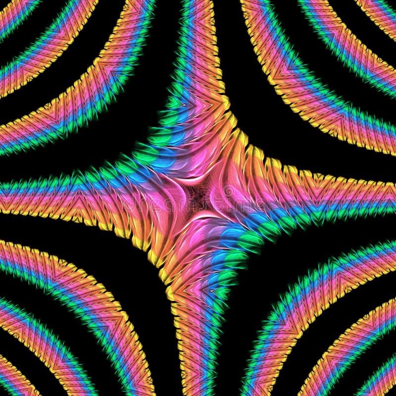 Gerold regenboogpatroon stock illustratie