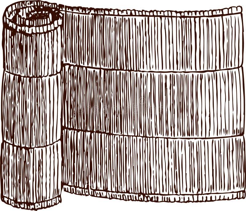 Gerolde mat stock illustratie