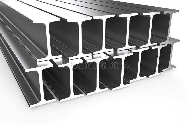 Gerolde metaal h-Straal stock illustratie