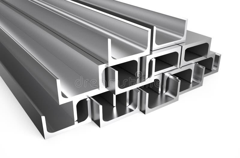 Gerolde metaal u-Bar stock illustratie