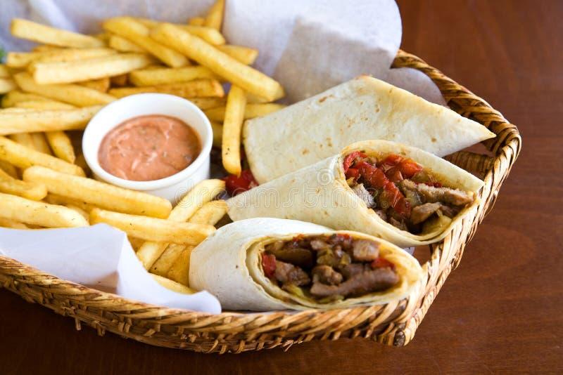 Gerolde sandwich stock foto's