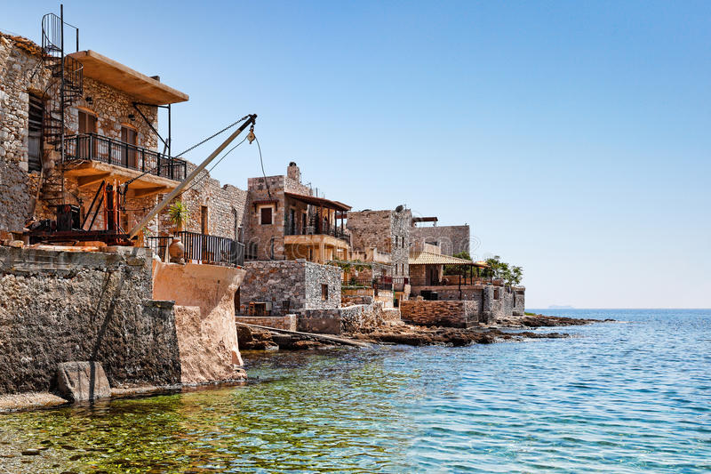 Gerolimenas in Mani, Greece stock photos