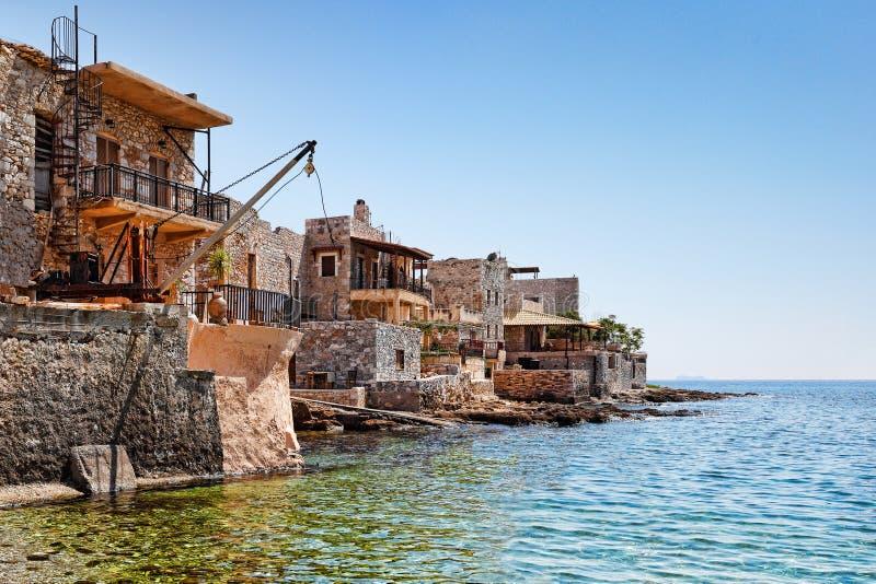 Gerolimenas in Mani, Griekenland stock foto's
