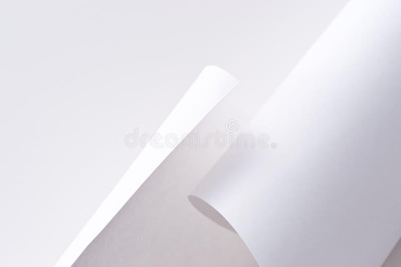 Gerollt herauf Papier lizenzfreie stockfotografie