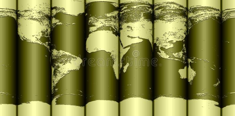 Gerollte Erdekarte vektor abbildung