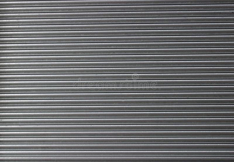 Gerollte Stahlblendenverschluss-Tür stockfotografie