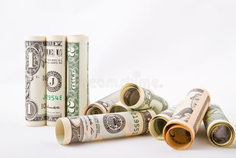 Gerolltes Geld Getrennt Auf Wei? Kostenlose Öffentliche Domain Cc0 Bild