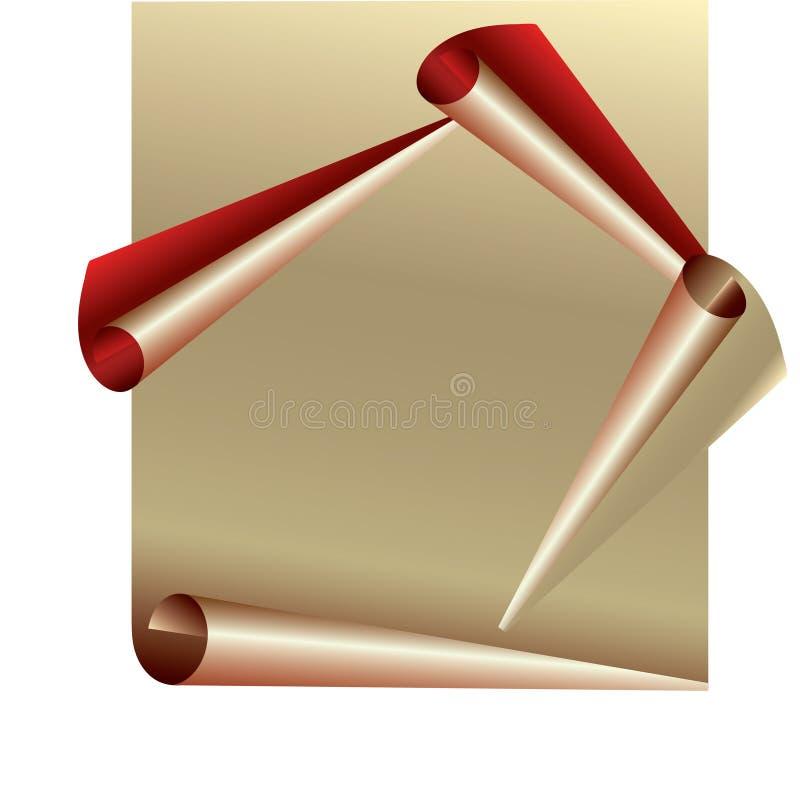 Gerolltes Papier vektor abbildung