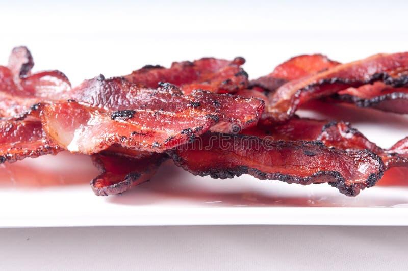 Gerookt bacon stock foto's