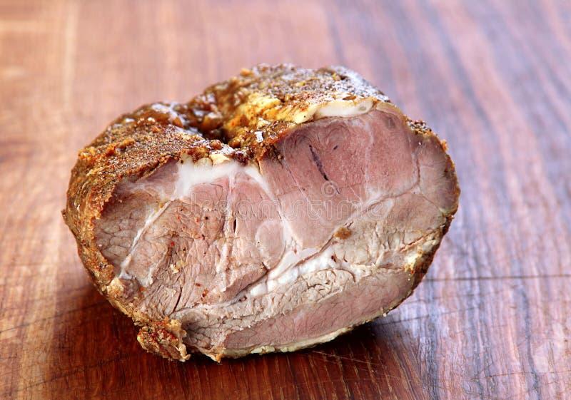 Gerookt varkensvleesvlees stock foto's