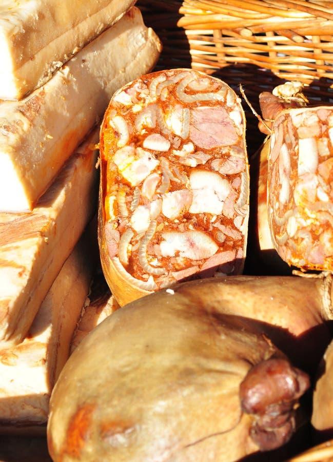 Gerookt varkensvleesvlees royalty-vrije stock afbeeldingen