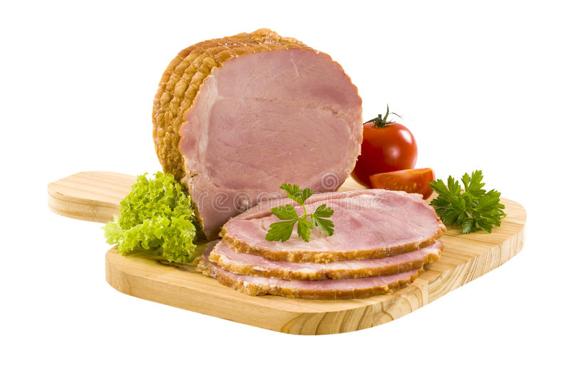 Gerookt vlees stock foto's