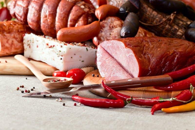 Gerookt vlees stock afbeeldingen