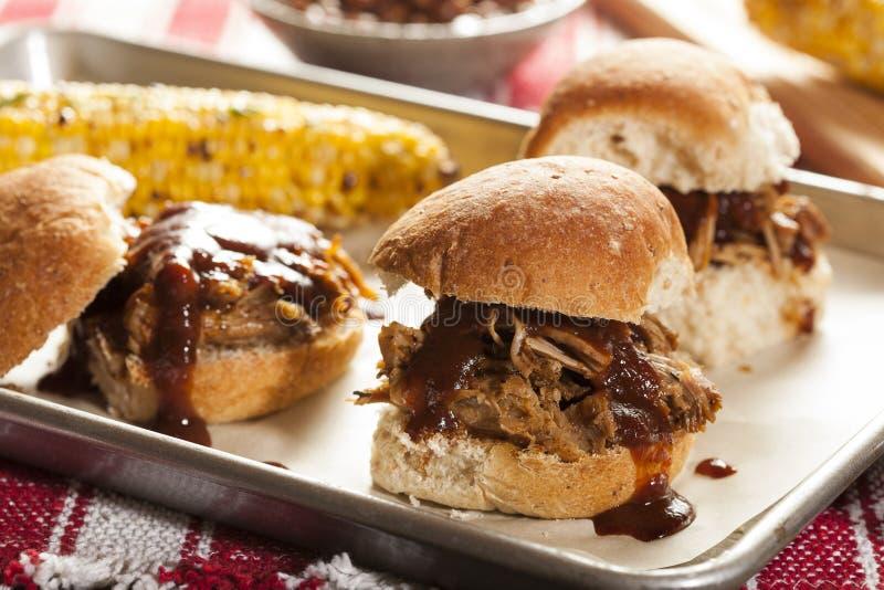 Gerookte Barbecue Getrokken Varkensvleesschuiven royalty-vrije stock fotografie