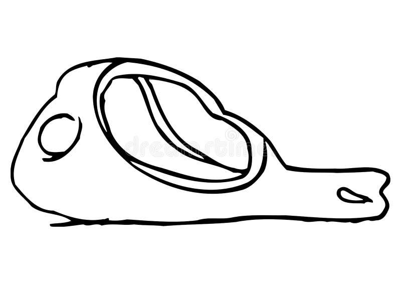 Gerookte ham stock illustratie