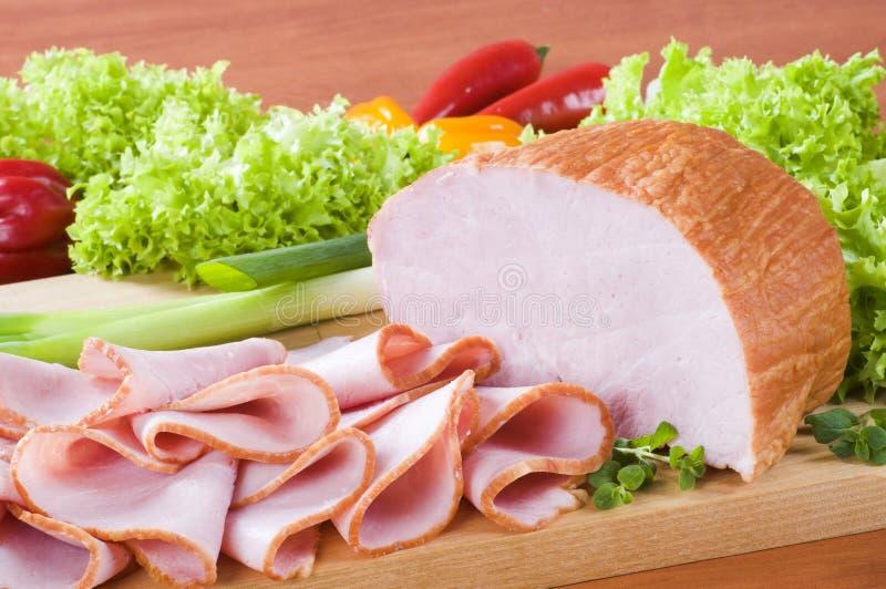 Gerookte ham stock afbeelding
