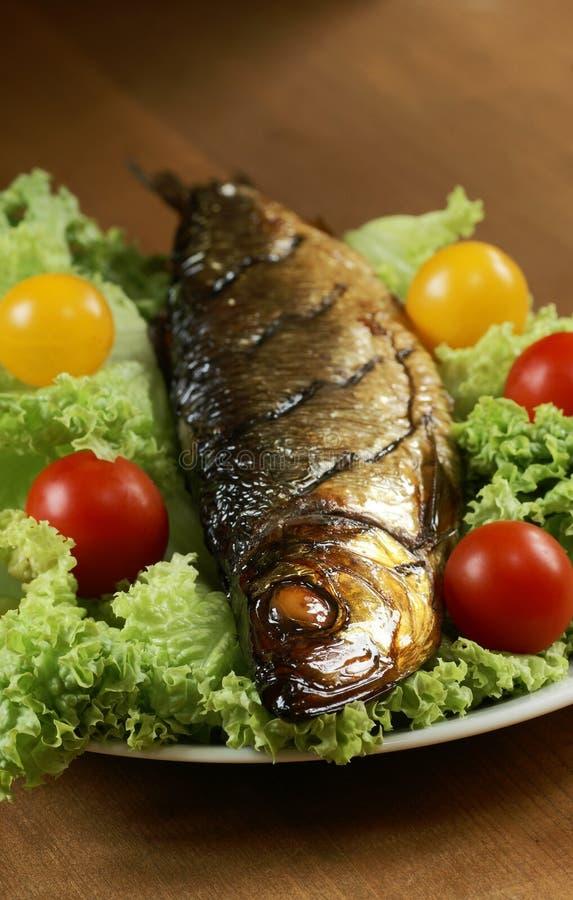 Gerookte vissen stock afbeeldingen