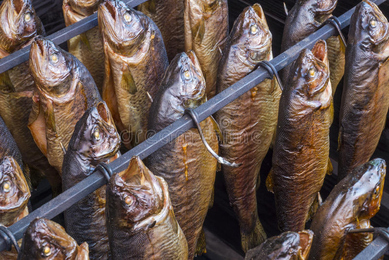 Gerookte vissen royalty-vrije stock foto