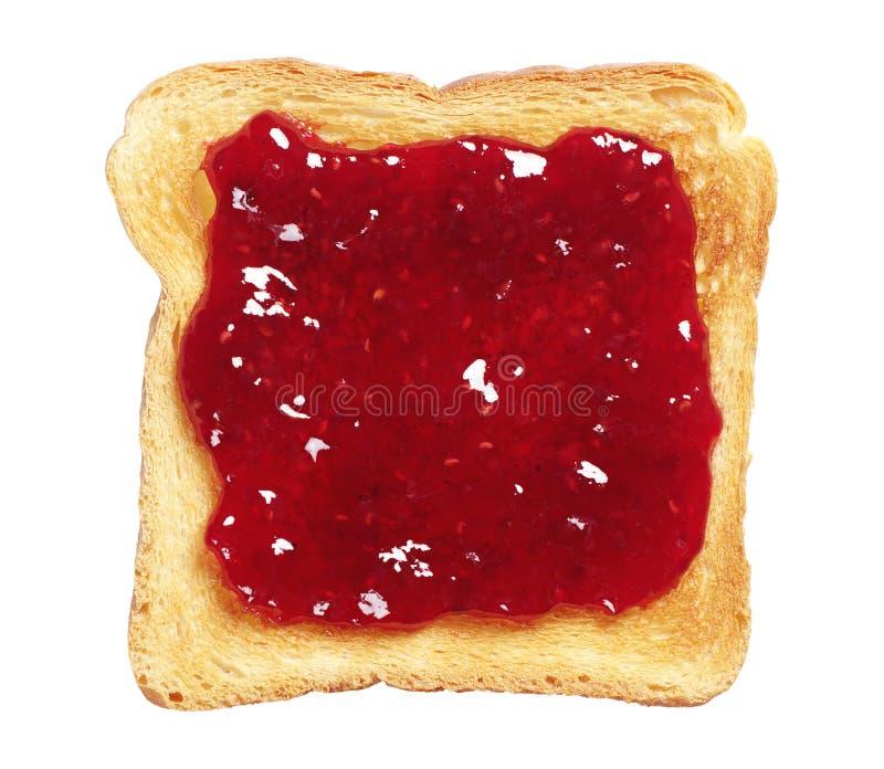 Geroosterd brood met jam stock fotografie