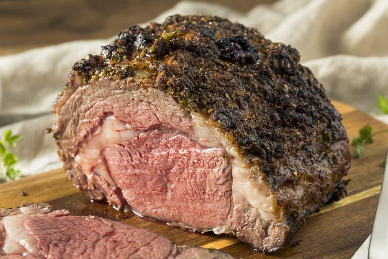 Geroosterd Eerste Rundvlees Zonder botten Rib Roast stock foto