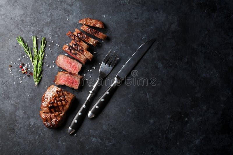 Geroosterd gesneden rundvleeslapje vlees royalty-vrije stock foto's