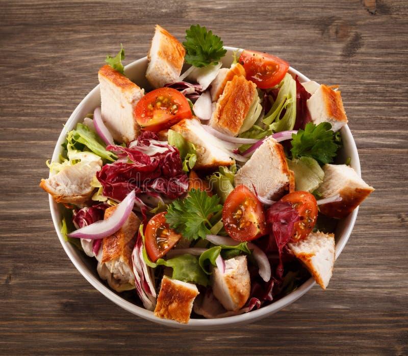 Geroosterd kippenvlees met groenten stock afbeelding