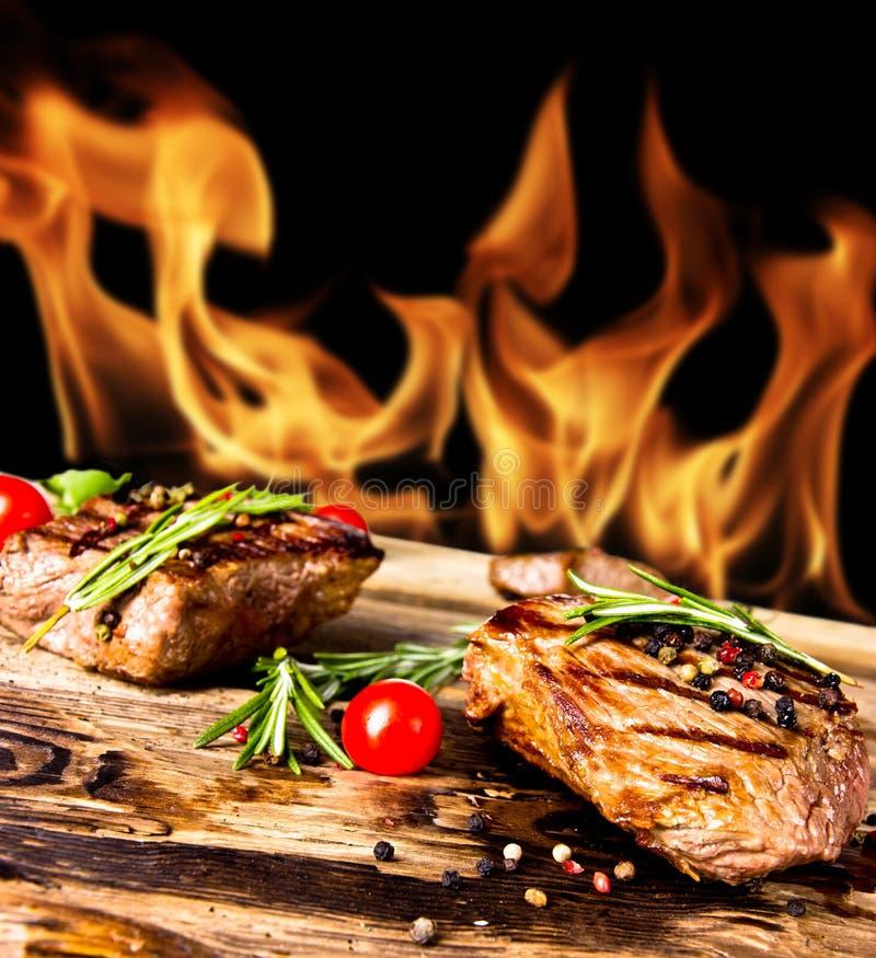 Geroosterd lapje vlees royalty-vrije stock foto's