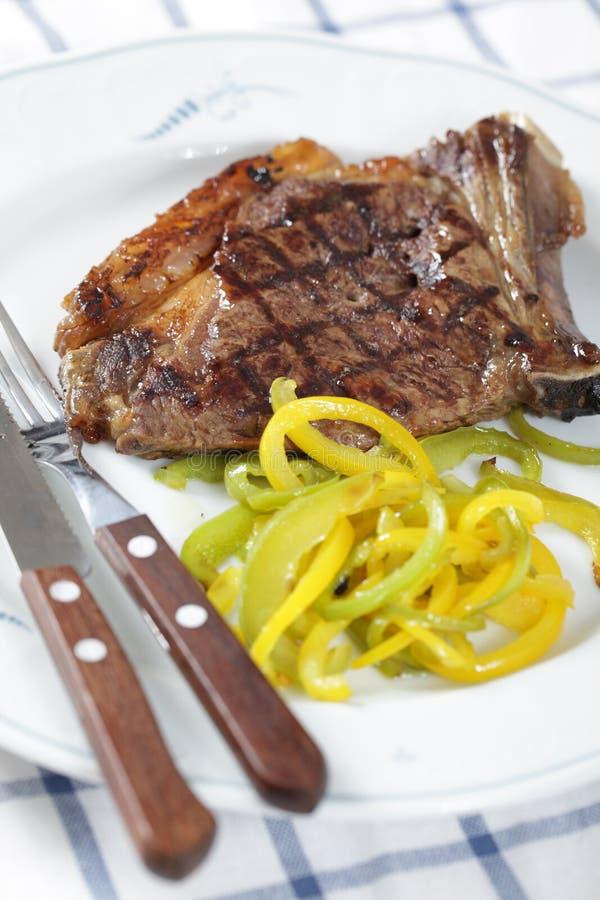 Geroosterd lapje vlees met peper royalty-vrije stock fotografie