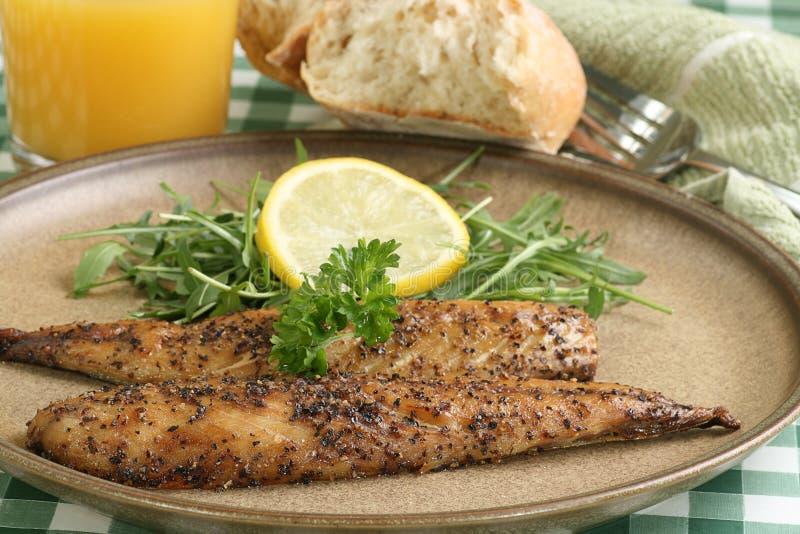 Geroosterd peppered makreel royalty-vrije stock afbeelding