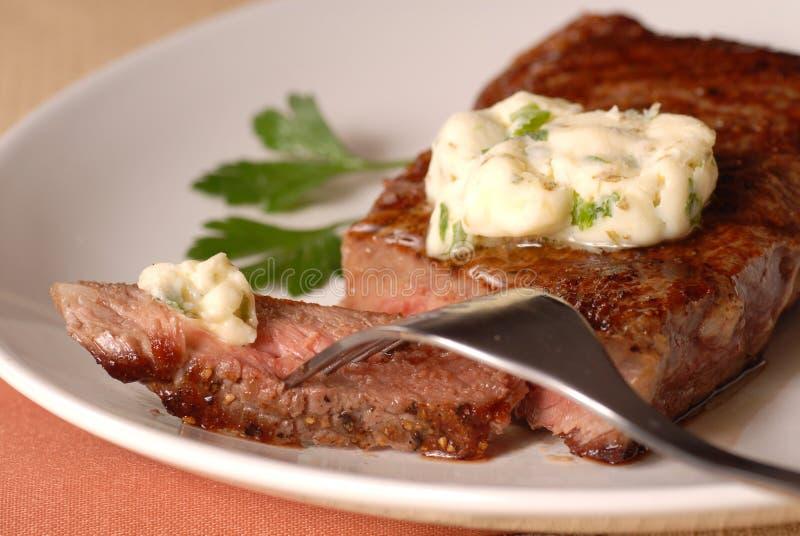 Geroosterd ribeye lapje vlees royalty-vrije stock fotografie