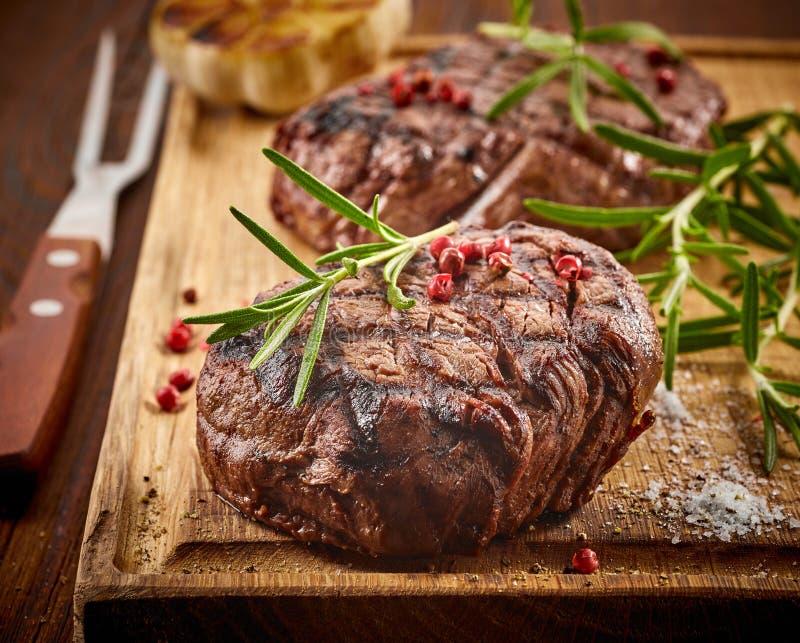 Geroosterd rundvleeslapje vlees stock foto