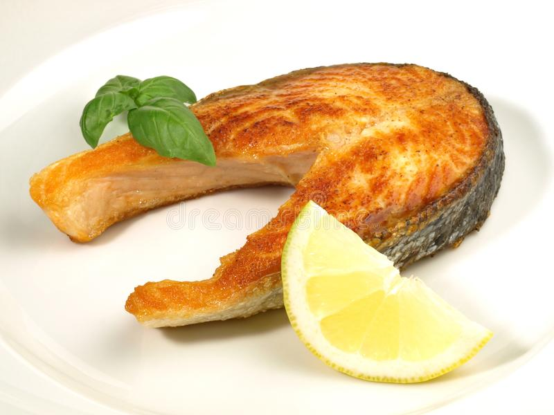 Geroosterd Salmon Chop - Visfilet royalty-vrije stock afbeeldingen