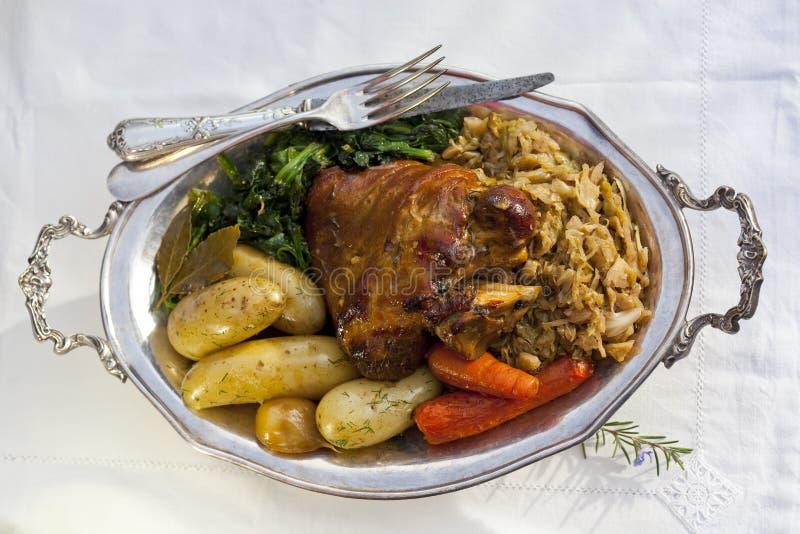 Geroosterd varkensvleesgewricht royalty-vrije stock afbeelding